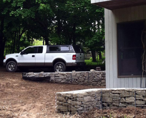 Rockport, Maine, Gabion Foot Walls